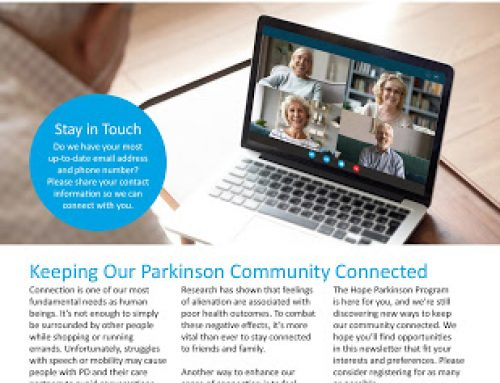 Summer Edition of Hope Parkinson Newsletter Now Available